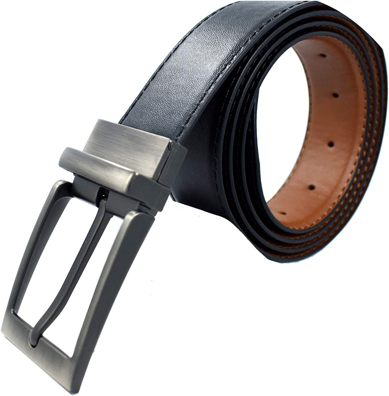 Big /& Tall Available Reversible Leather Belt 1.5 wide