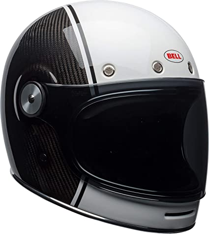 Bell Bullitt Carbon Full-Face Motorcycle Helmet (Gloss White/Carbon Pierce, X