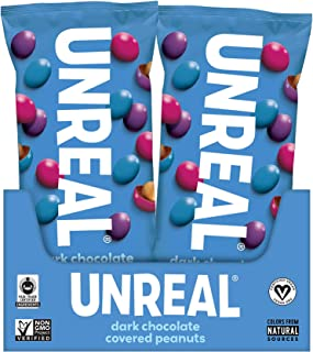 product image for UNREAL Dark Chocolate Snack Pack, Peanut Gems, 12 Pack