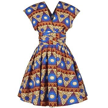 SMILEQ Las Mujeres se Visten de Moda Africana con Hombros ...