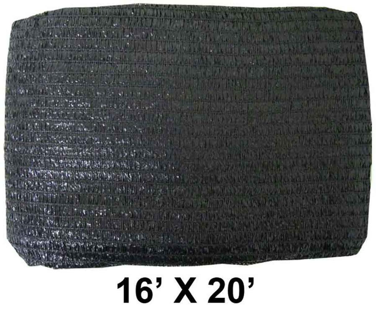 HAWK 16' X 20' BLACK SUNSHADE NET - TSB-1620
