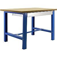 Banco de trabajo industrial con cajon BT6 Simonwork Plywood Azul/Madera Simonrack 865x1500x750 mms - banco de trabajo…