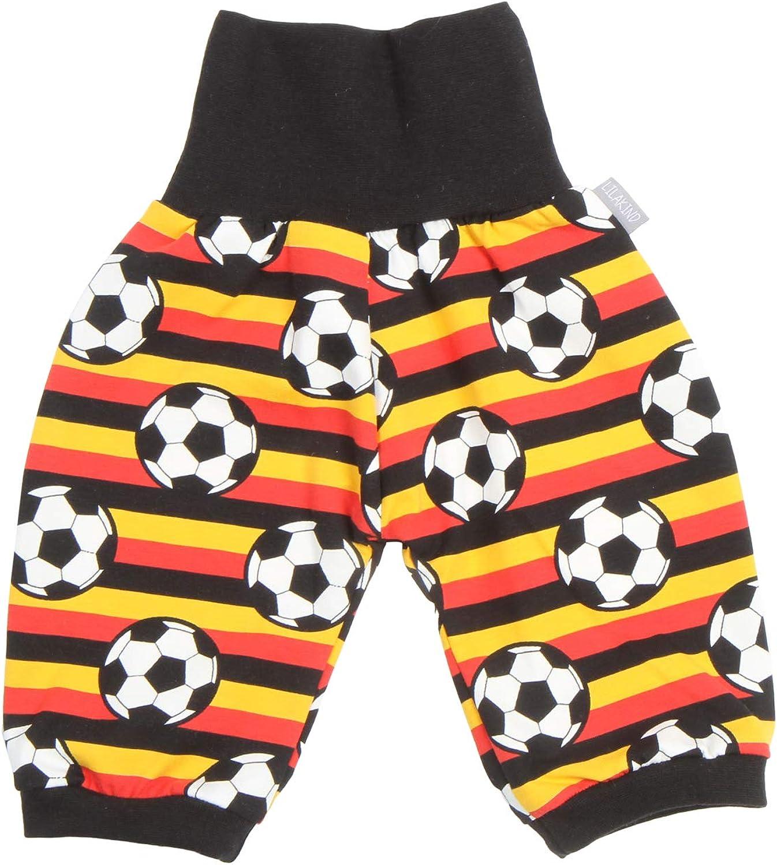 "Made in Germany Lilakind/"" Baby Kinder 3//4 Pumphose Fussball Gelb Rot Schwarz gestreift Gr 50//56-134//140"