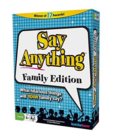 Review North Star Games Say Anything Family Game   Card Game with Fun Get to Know Questions