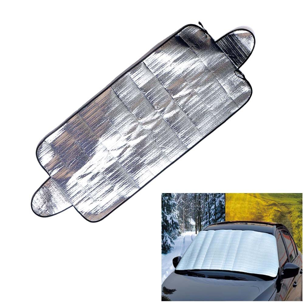 QCYM Smart Windshield Cover Anti Shade Frost Ice Snow Protector UV Protection Heat Sun Shade Ideally For Front Car Windshield by QCYM (Image #1)