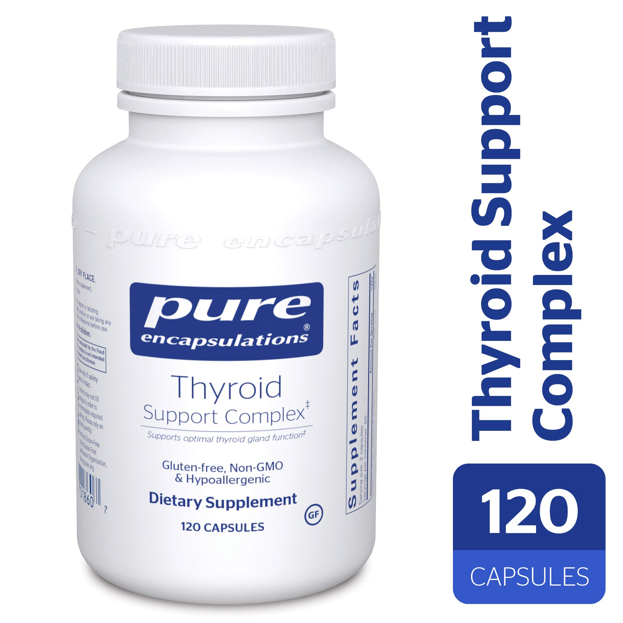 Pure Encapsulations - Thyroid Support Complex - Hypoallergenic Supplement with Herbs and Nutrients for Optimal Thyroid Gland Function* - 120 Capsules by Pure Encapsulations