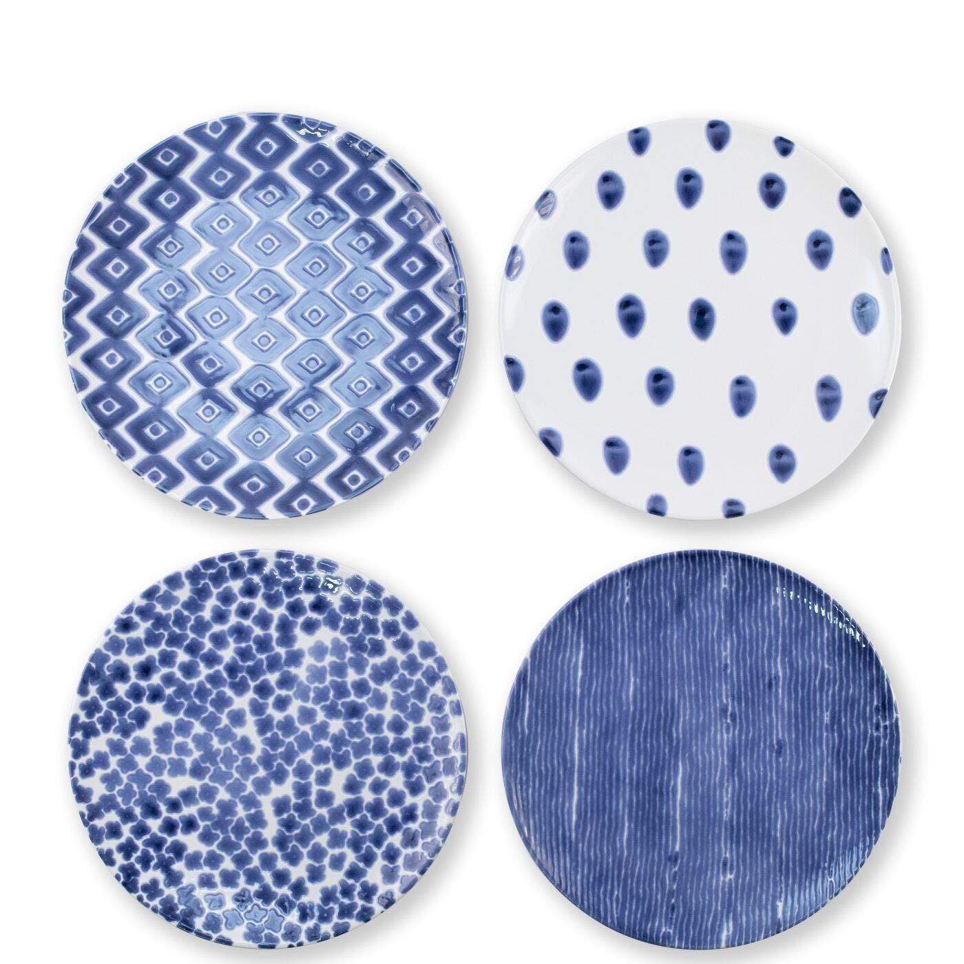 Viva Santorini Assorted Dinner Plates - Set of 4
