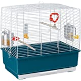 Ferplast Rekord 3 Bird Cage With Pearly White Bars with Accessories, Medium