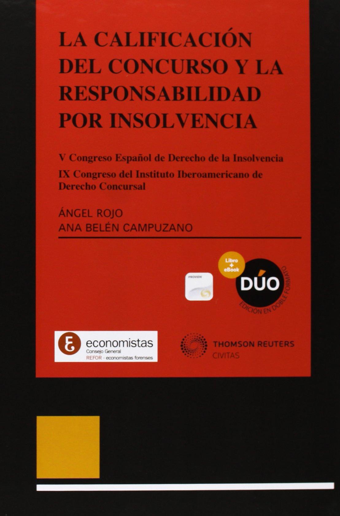 CALIFICACION DEL CONCURSO Y LA RESPONSABILIDAD POR INSOLVENCIA V CONGR PDF Text fb2 ebook
