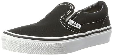 vans kids slip on black