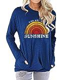 Nlife Women Long Sleeve Sweatshirts Casual Tank Tops Graphic Tee Shirt for Women