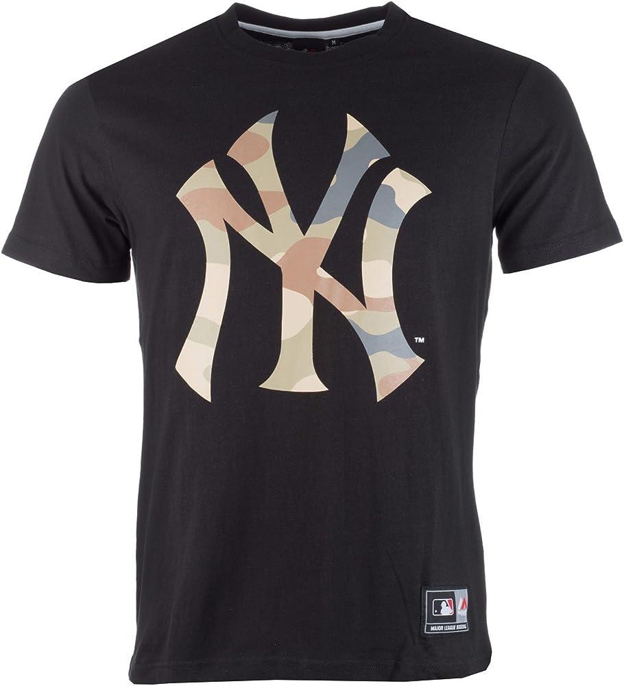 Majestic: Camiseta Bergen con Escudo de los New York Yankees para Hombre (Negra): Amazon.es: Ropa y accesorios