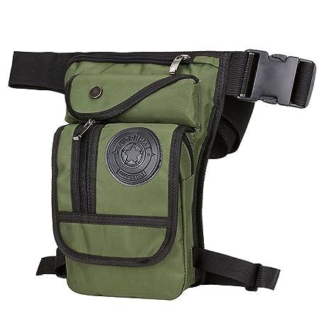 26d1f7108a62 Hebetag Men Nylon Drop Leg Bag Tactical Military Motorcycle Riding Waist  Fanny Pack Bag