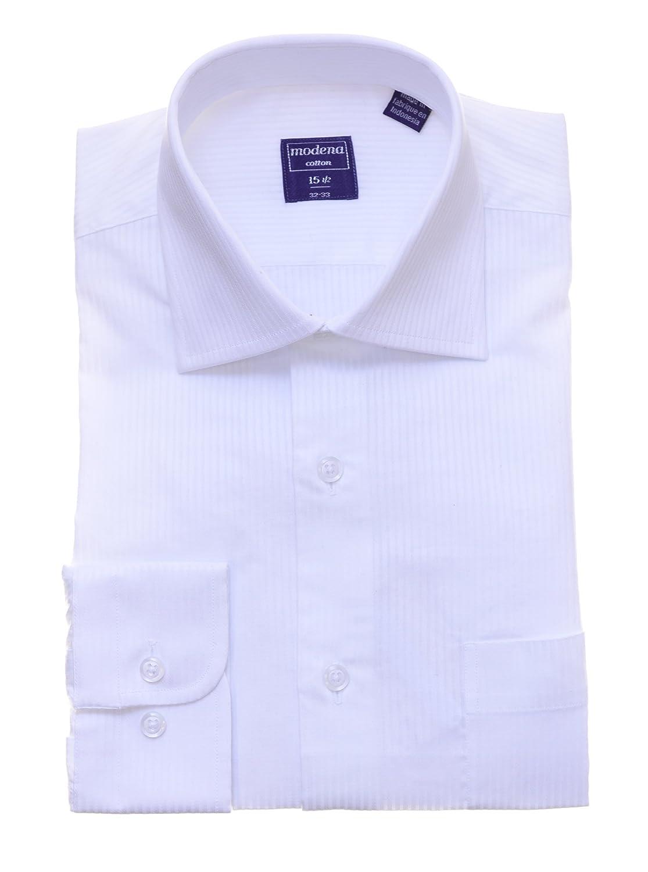 Mens White On White Tonal Striped Cotton Dress Shirt At Amazon Mens
