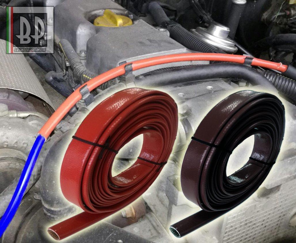 Tubo corrugado Protección tubos Compartimiento Motor Coche. Resistencia calor rayos UV Aceite Gasolina, color rojo, disponible de diámetro 1 mm a 25 mm, ...