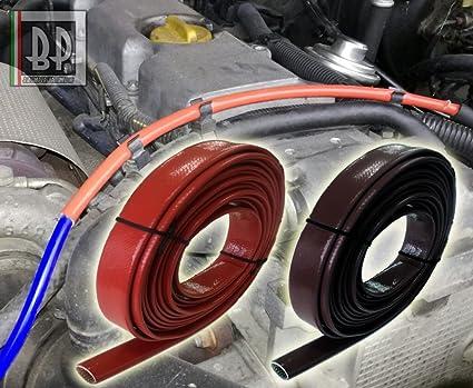 Tubo corrugado Protección tubos Compartimiento Motor Coche. Resistencia calor rayos UV Aceite Gasolina, color