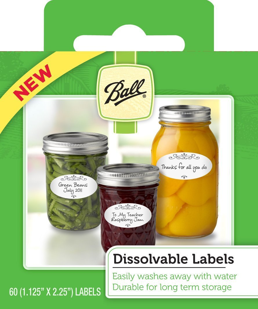 amazon com ball dissolvable canning labels 60 count pack of 2
