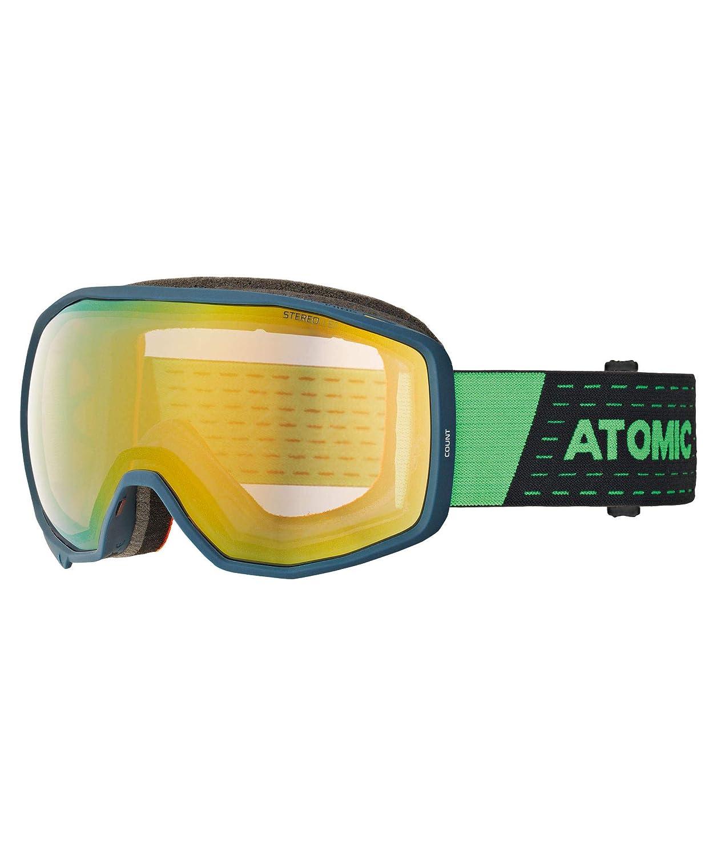 Atomic Unisex All Mountain-Skibrille Count Stereo, Medium Fit, Sphärische Doppelscheibe, Kompatibel mit Brille für starkes Licht schwarz/rot AN5105634 ATOAQ|#ATOMIC