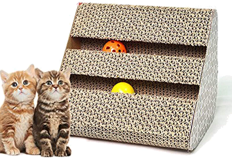 we pay your sales tax Pagamos tu impuesto de Venta: Caja de cartón Ondulado con diseño de Gato Ondulado y Resistente con Licencia y Bolas de Campana KT00119: Amazon.es: Productos para mascotas