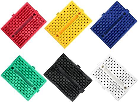 US seller 3 pieces White Mini Breadboard 170 Tie-Points Solderless