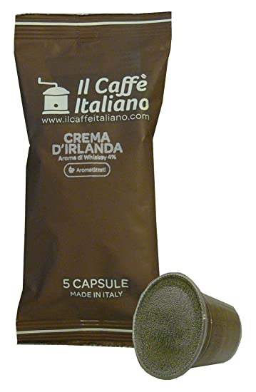 Caffè italiano 50 Compatible Capsules With Nespresso Coffee Machine - Coffee Capsules Flavoured Cream Of Ireland