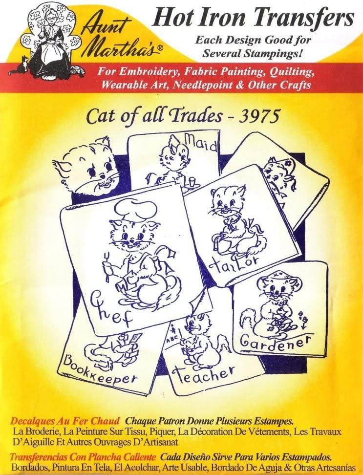 Kitty Kat Days Vtg Embroidery Transfer Pattern