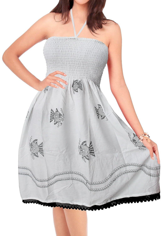 LA LEELA peces rayón bordó fruncido mujeres blancas vestido tubo corto superior ocasional: Amazon.es: Ropa y accesorios
