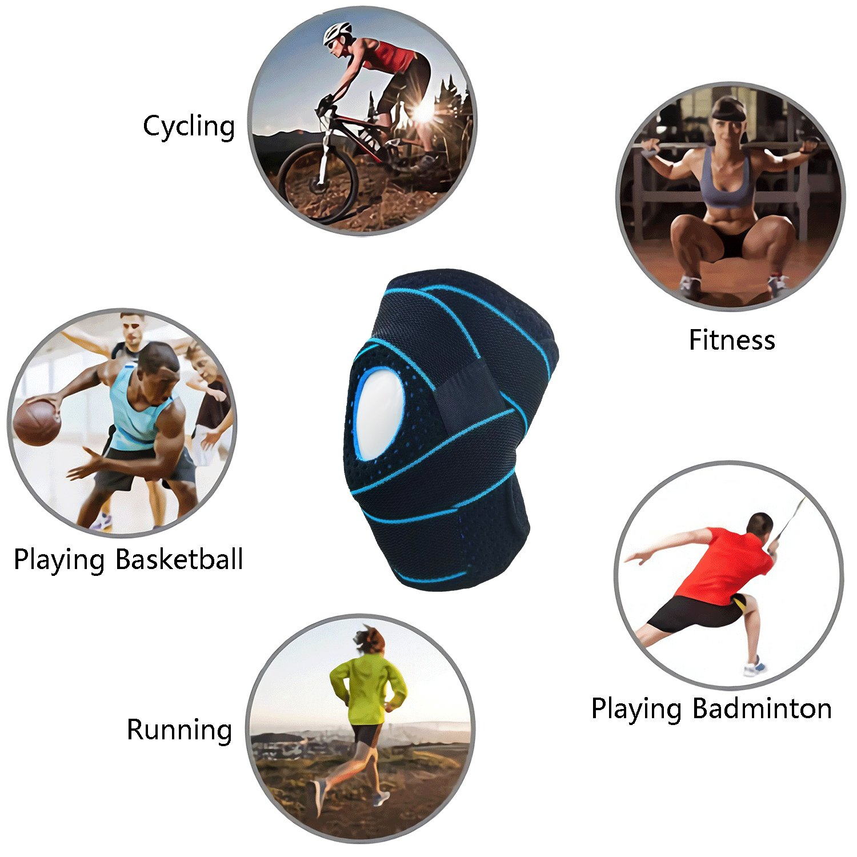 azul ciclismo talla /única baloncesto Para hombres y mujeres Ideal para correr escalada etc equitaci/ón Rodillera de compresi/ón ajustable AOHAN