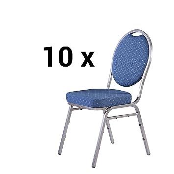 Stapelstühle 10er Set aus Metall Bankettstühle / Konferenzstuhl ...