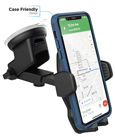 Amazon.com: Encased Car Mount iPhone X/iPhone Xs/iPhone Xr Phone Holder - Case Friendly Adjustable Dock (Vent/Windshield/Dashboard): Cell Phones & ...