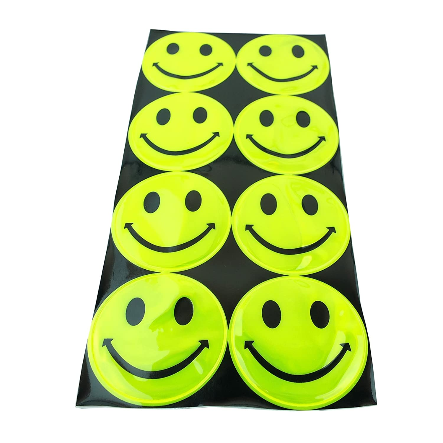 Reflective Stickers Self Adhesive Smiley Face High Visibility Cycling Reflective Stickers