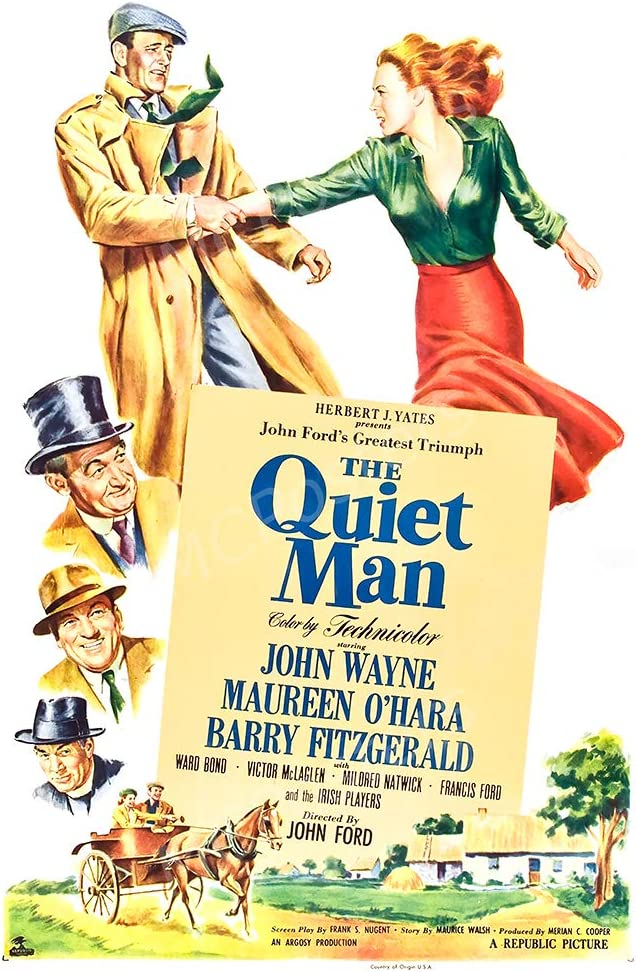 "PremiumPrints - John Wayne The Quiet Man Glossy Finish Made in USA Movie Poster - MCP747 (24"" x 36"" (61cm x 91.5cm))"