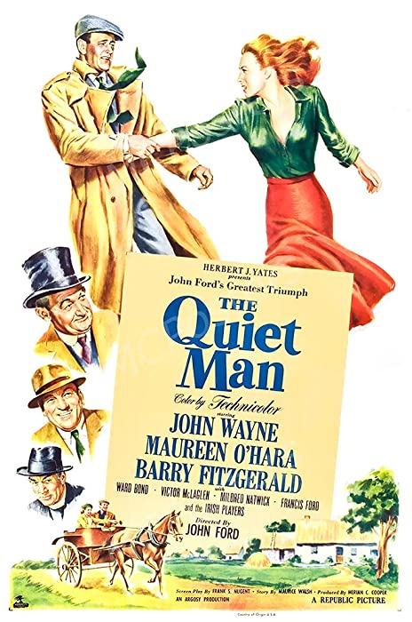 "MCPosters - John Wayne The Quiet Man Glossy Finish Movie Poster - MCP747 (24"" x 36"" (61cm x 91.5cm))"