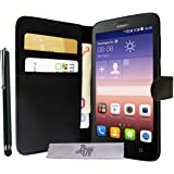 Etui Housse Luxe Portefeuille Huawei Y635 + STYLET et 3 FILM OFFERT!!