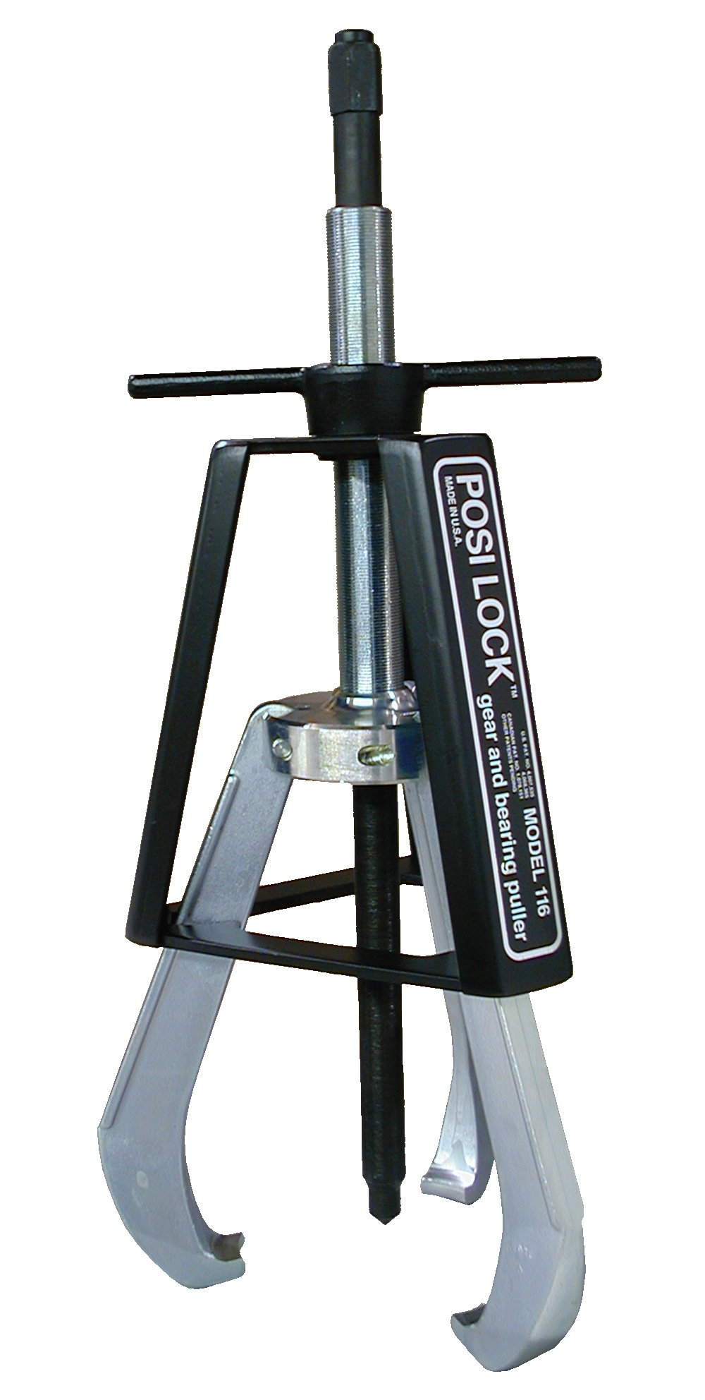 Posi Lock 116 Manual Puller, 3 Jaws, 40 tons Capacity, 14'' Reach, 3'' - 25'' Spread Range, 32'' Overall Length