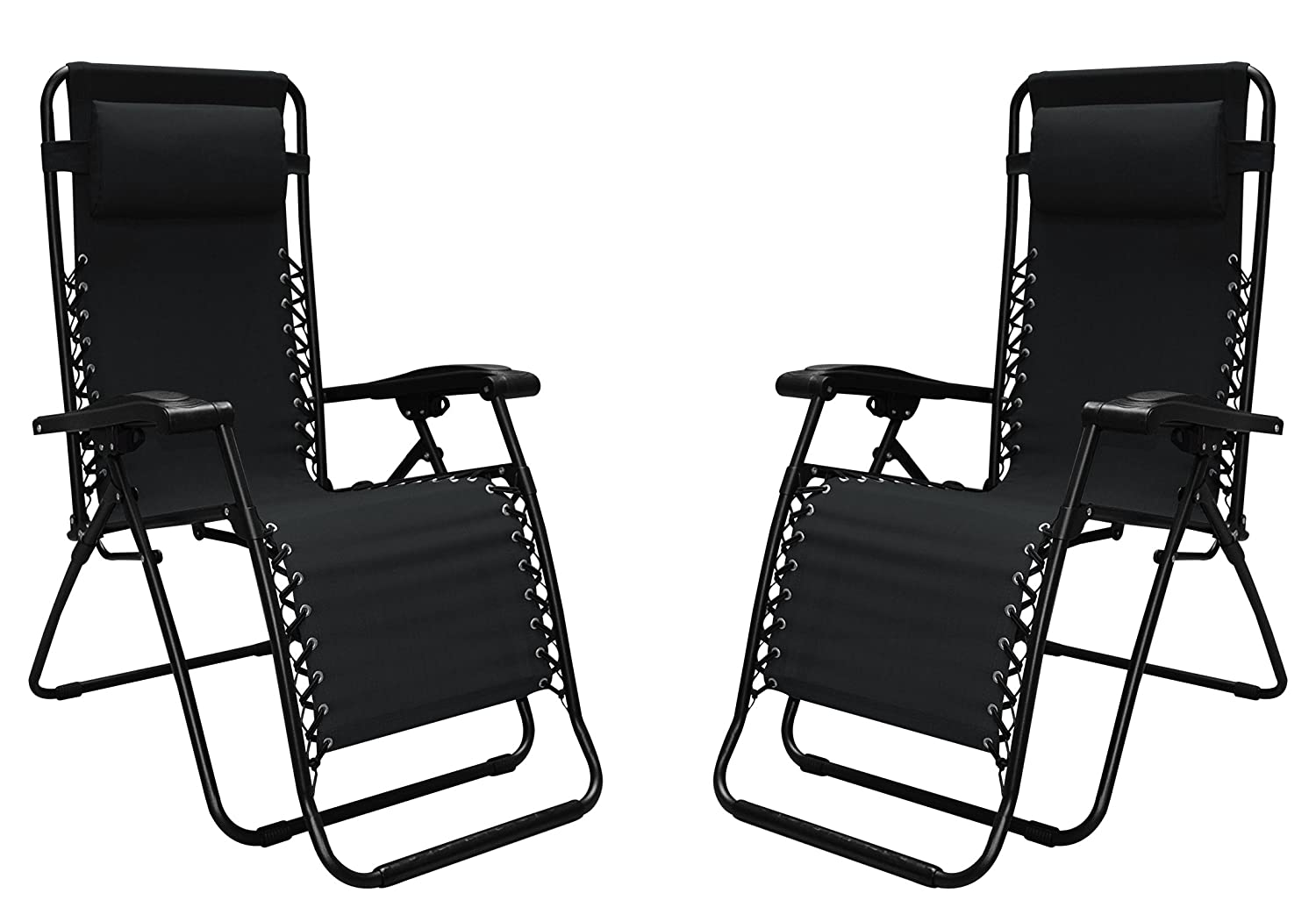 Caravan Canopy 80009000052 Sports Infinity Zero Gravity Chair 2 Pack , Black