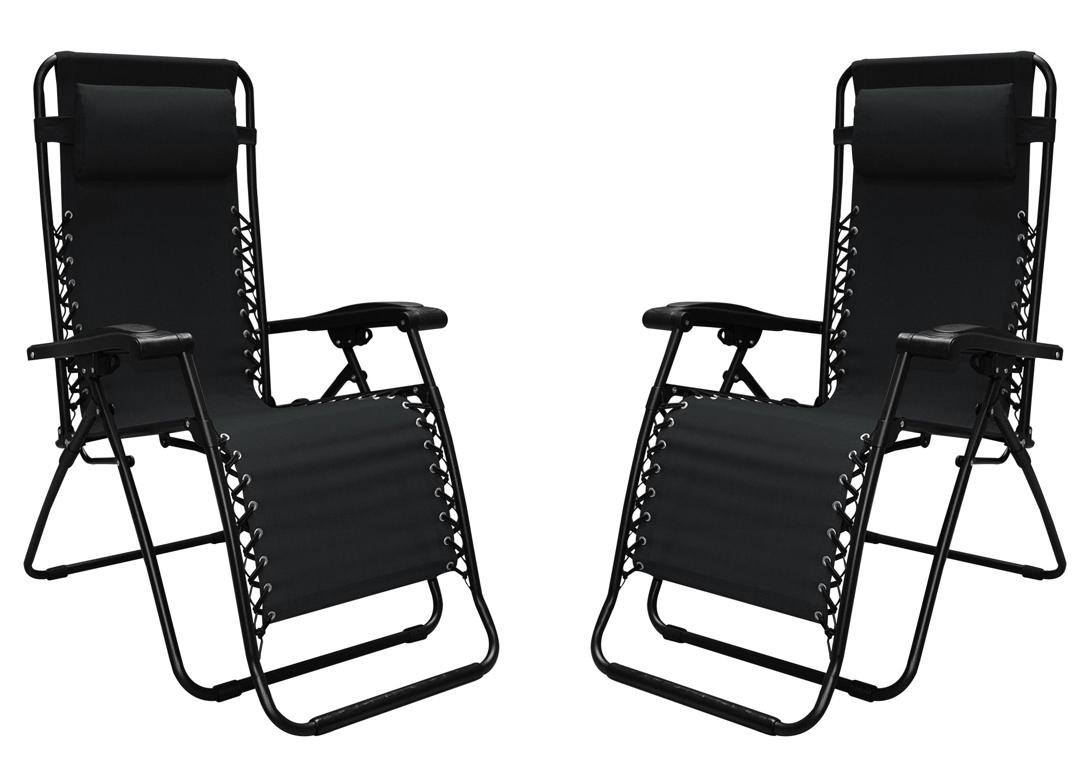 Caravan Sports Infinity Zero Gravity Chair - 2 Pack, Black