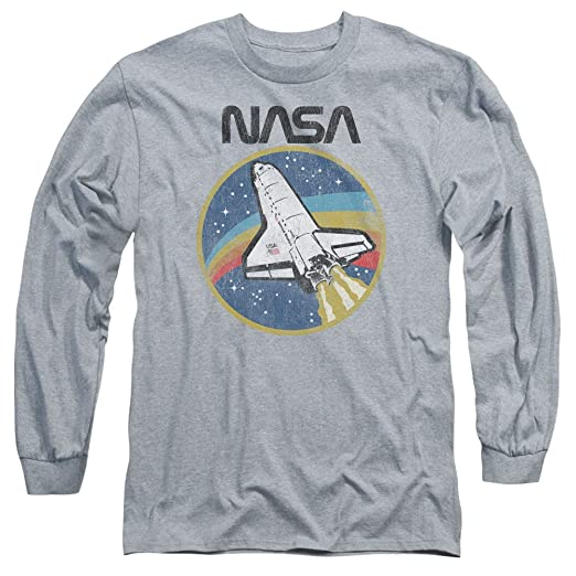 11b59c57 Image Unavailable. Image not available for. Color: NASA Shuttle Unisex  Adult Long-Sleeve T Shirt for Men and Women
