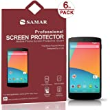 SAMAR® - Supreme Quality New Google Nexus 5 Matte Anti Glare Screen Protectors (Released 2013) 6 in Pack - Includes Microfiber Cleaning Cloth