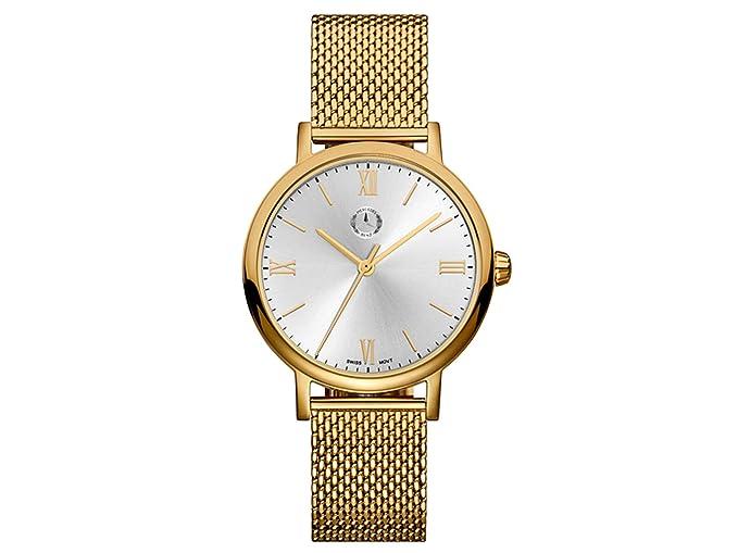 Mercedes-Benz Reloj de pulsera mujer, Classic, Lady Roman Dorado/Plateado, Acero inoxidable: Amazon.es: Relojes