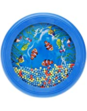SODIAL(R)Ocean Wave Bead Drum Gentle Sea Sound Musical Educational Toy Tool for Baby Kid Child