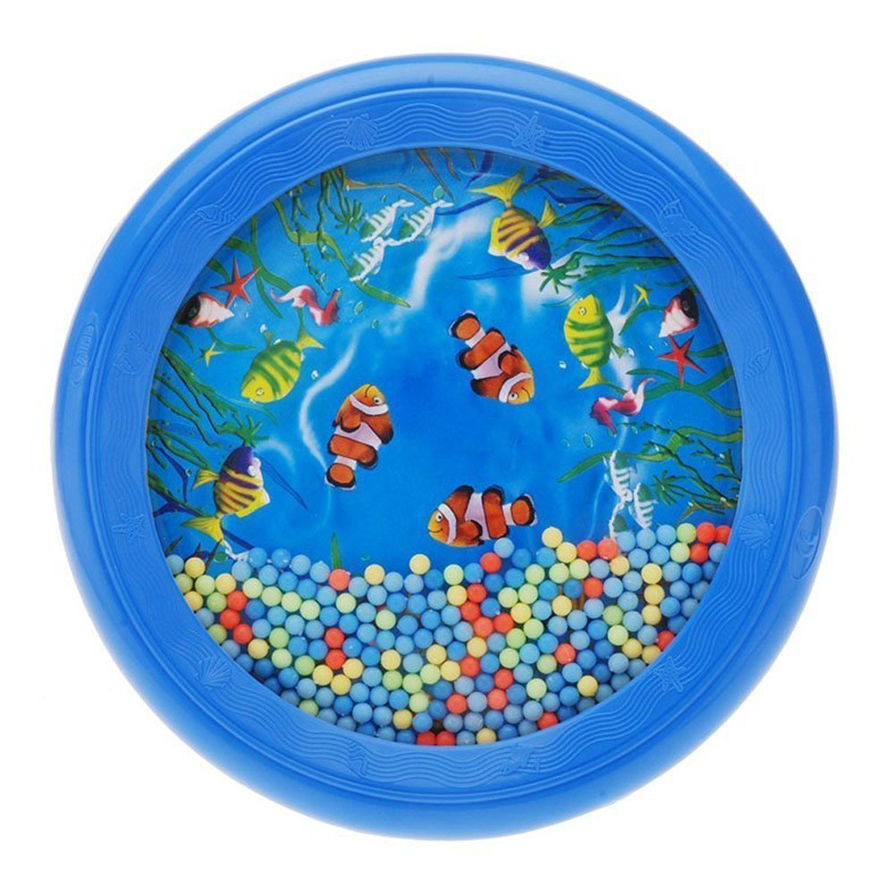 SODIAL(R)Ocean Wave Bead Drum Gentle Sea Sound Musical Educational Toy Tool for Baby Kid Child 055665