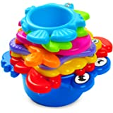 aGreatLife My First Stacking Cups: Best Educational Bath Toy for Babies and Toddlers - Fun and Colorful Stacking and Nesting Cups - With Free Delightful Stickers