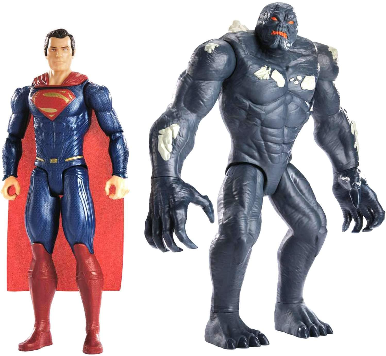 Amazon Com Mattel Justice League Superman Vs Doomsday Figures 2