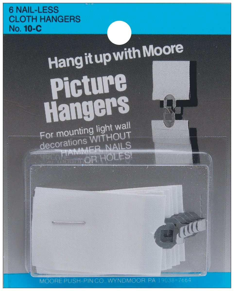 Amazon.com: Picture Hangers 6/Pkg-Nail-Less Cloth: Home & Kitchen