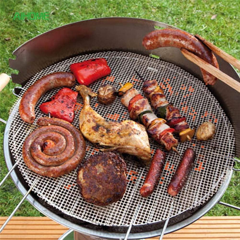 No-Stick BBQ Grill mat barbecue r/éutilisable et de la grille de cuisson fonctionne sur le gaz charbon /électrique Grill feuilles