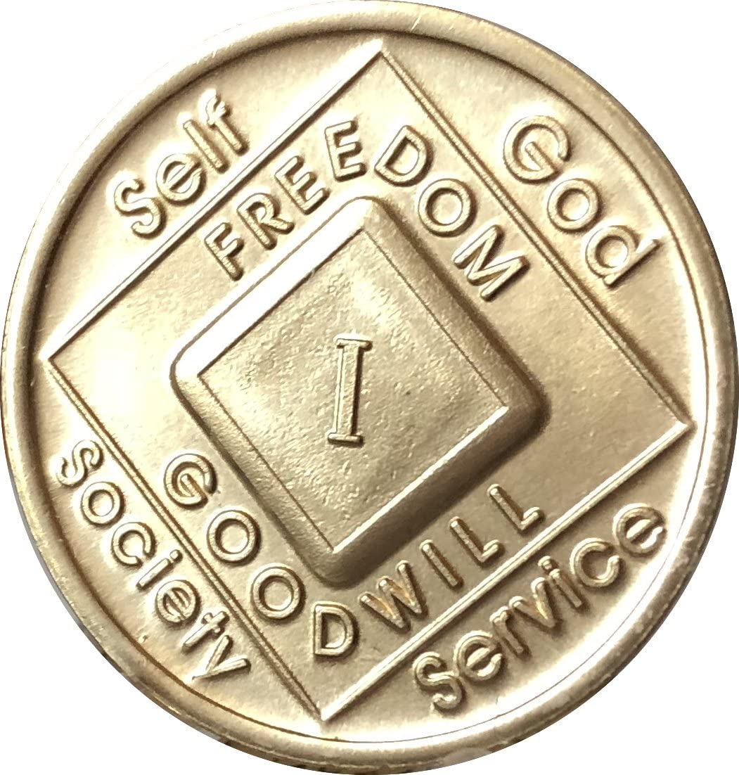 Narcotics Anonymous recovery medal token chip coin 16 Years XVI