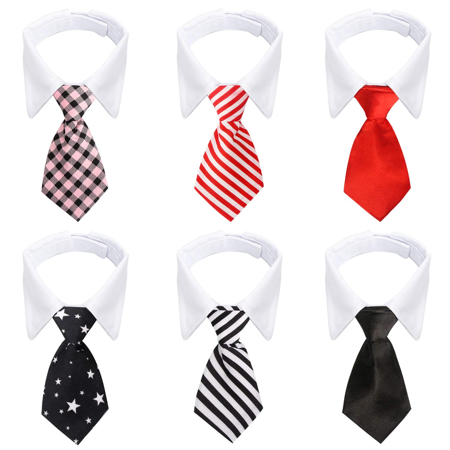 cd247d2b3f897 Segarty Dog Ties, 6pcs Pet Formal Classy Neckties, Tuxedo Bow Tie with Suit  White Collar for Pup Cat, Birthday Gift, Grooming Accessories, Wedding, ...
