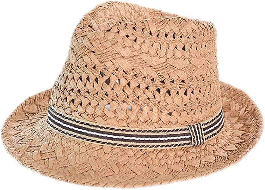 Aisoway Unisex Padre-Hijo Cap Adulto Borla de Sun de la Paja Sombrero de la Playa de la Vendimia Sombreros de Panamá Jazz Fedora