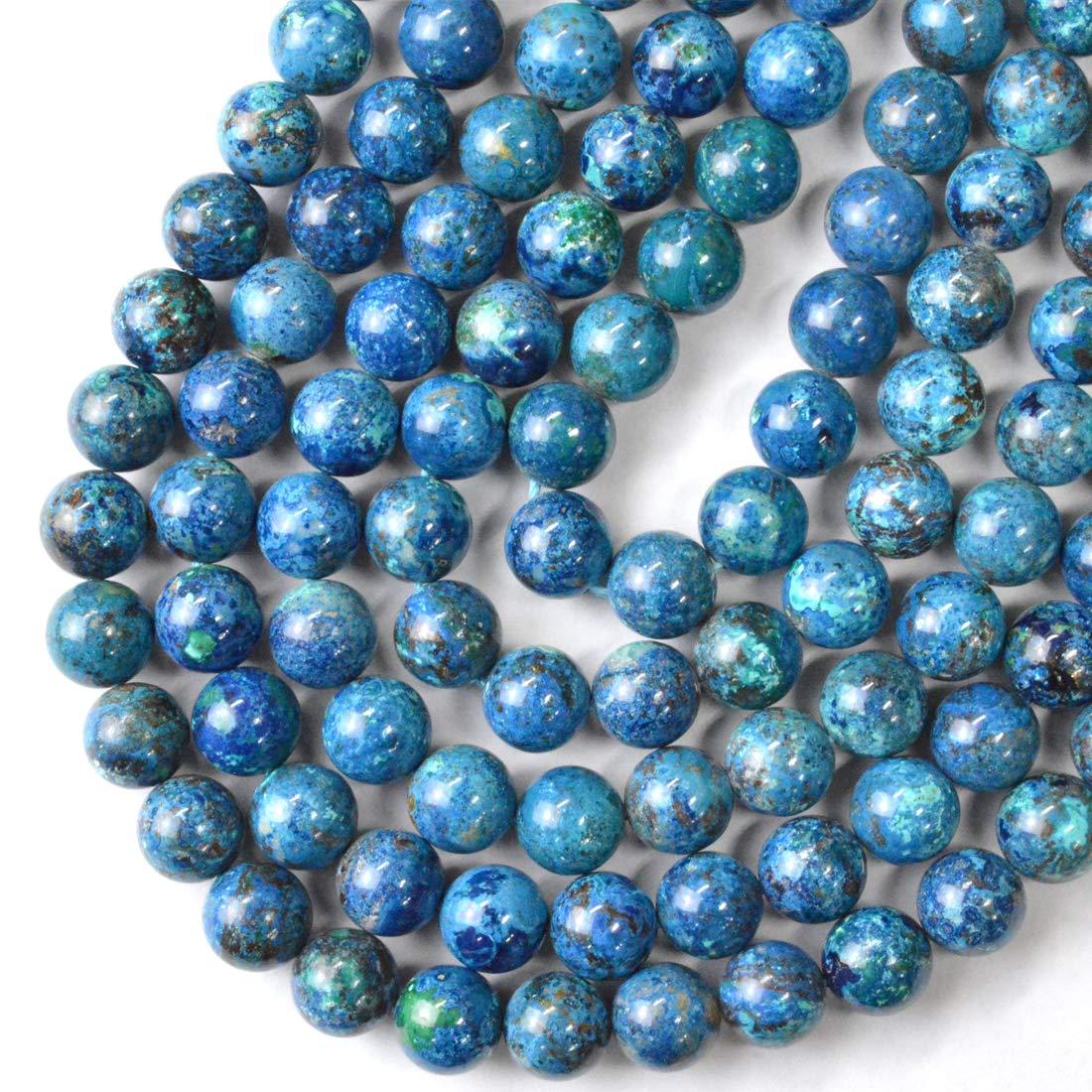 "14.9/"" Round Aquamarine Gemstone Bead Strand Dyed Jewelry Findings 4~12mm"